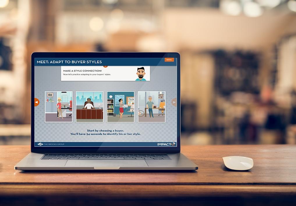Take a sneak peek at our interactive scenario-based sales training.